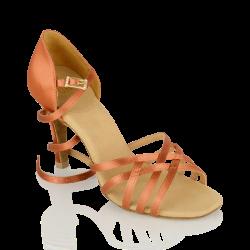 10d4aa309c4 Ray Rose 860 Kalahari Dark Tan Satin Ladies Dance Shoes with 2.5